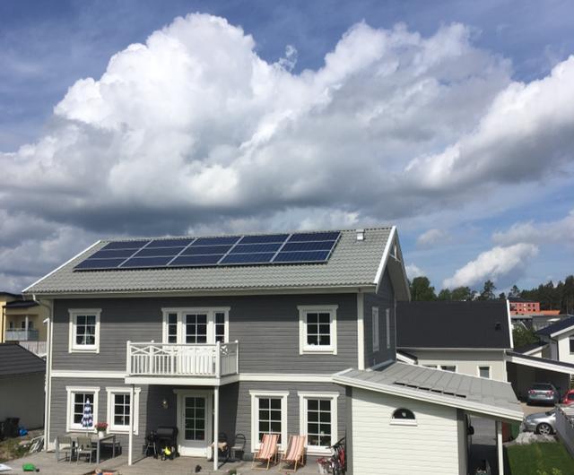 Solceller vacker villa